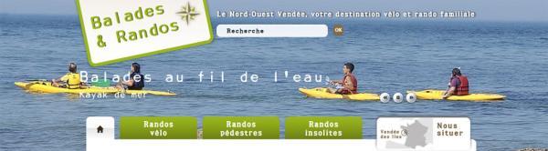 Bandeau du site internet www.velo-loisirs.fr